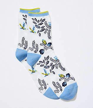 LOFT Bird Crew Socks