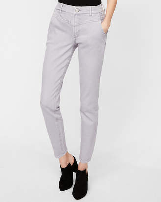 Express High Waisted Lilac Stretch Ankle Jean Leggings