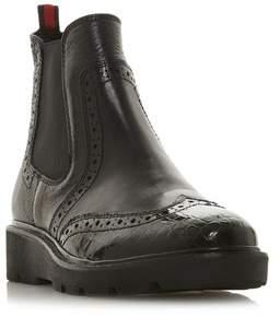 e047251ac55472 Next Womens Dune London Black Flatform Chelsea Ankle Boot