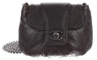 Chanel Glazed Calfskin Quilted Paris Dallas Mini Flap Bag