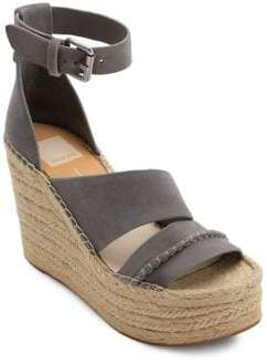 Dolce Vita Simi Suede & Jute Wedge Sandals