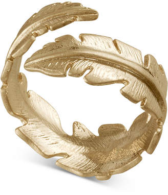 Rachel Roy Gold-Tone Feather Wrap Ring