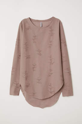 H&M Trashed Top - Brown