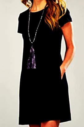 Paige Charlie Black T-Shirt Dress