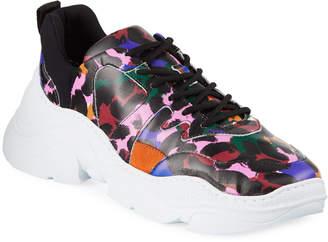 Schutz Jackye Leopard-Print Sneakers