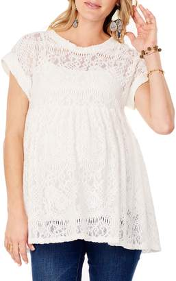 Ingrid & Isabel R) Lace Maternity Swing Top