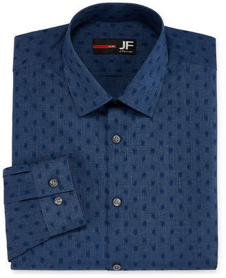 Jf J.Ferrar Easy-Care Solid Big And Tall Long Sleeve Broadcloth Pattern Dress Shirt