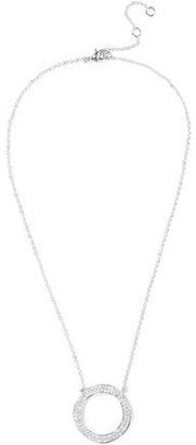 Kenneth Jay Lane Cz By Rose Gold-plated Crystal Necklace