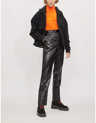 Fear Of God Padded stretch-denim and jersey jacket