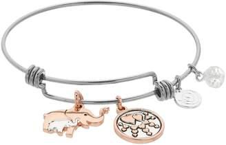 Love This Life love this life Two Tone Elephant Bangle Bracelet