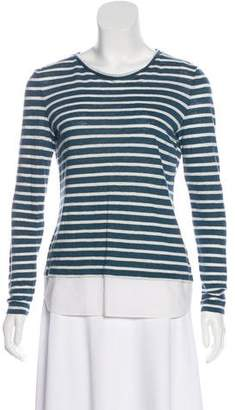 Tory Burch Scoop Neck Striped Top