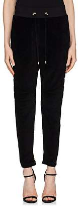 Balmain Women's Velour Jogger Pants