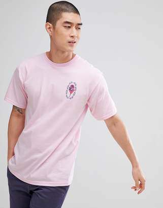 Obey Artist Series T-Shirt With Rose Chain Back Print In Pink