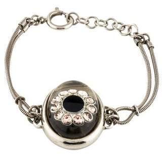 Jean Paul Gaultier Crystal Station Link Bracelet