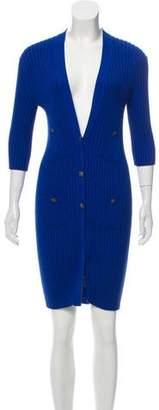 Chanel Rib Knit V-Neck Dress