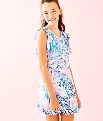 b45c1b4c3f9eb0 Lilly Pulitzer UPF 50+ Girls Mini Rally Tennis Dress