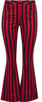 Marques Almeida Marques' Almeida Striped Duchesse-Satin Kick-Flare Pants