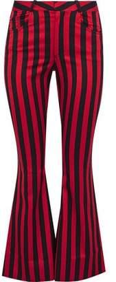 Marques Almeida Marques' Almeida Striped Cotton-Blend Twill Kick-Flare Pants