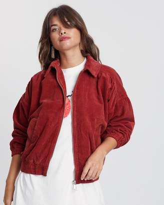 Topshop Jumbo Corduroy Jacket