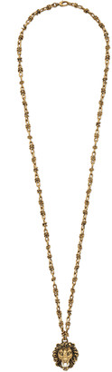 Lion head necklace with pearl $795 thestylecure.com