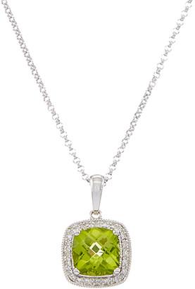 Diana M Fine Jewelry 14K 1.40 Ct. Tw. Diamond & Peridot Necklace