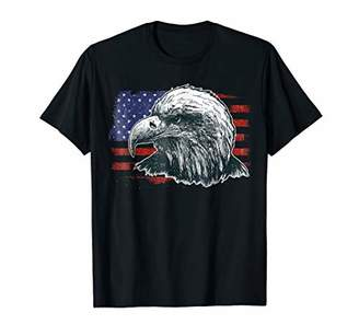 American Flag Eagle T Shirt Home Of The Brave Freedom Tee