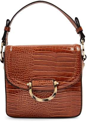 Topshop Carrie Croc Print Shoulder Bag