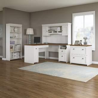 Beachcrest Home Oakridge 4 Piece L-Shaped Desk Office Suite