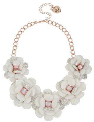 Betsey Johnson Flower Statement Necklace