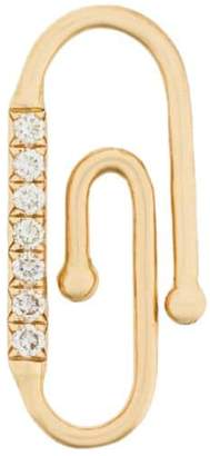 Aurelie Bidermann 18kt yellow gold diamond Paperclip accessory