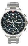 Nautica (ノーティカ) - ノーティカクロノグラフステンレススチールブレスレットブラックダイヤルメンズ腕時計# n34500g
