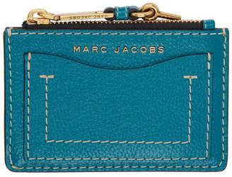 Marc Jacobs (マーク ジェイコブス) - Marc Jacobs ブルー The Grind ジップ カード ホルダー