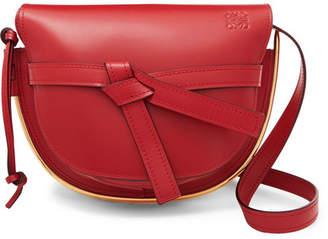 Loewe Gate Small Embellished Leather Shoulder Bag - Red