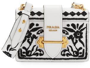 Prada Embroidered Cahier Bag $3,210 thestylecure.com