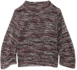 Vince Camuto Boucle Stand-collar Sweater
