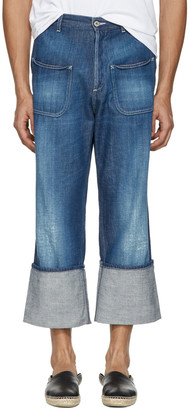 Loewe Indigo Patch Pocket Jeans $590 thestylecure.com