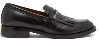 Givenchy Metal Arrow Fringed Leather Loafers - Mens - Black