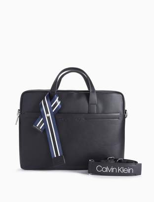 Calvin Klein logo laptop bag