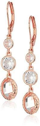 Anne Klein Triple Leverback Drop Earrings