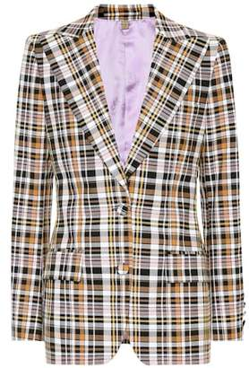 Burberry Checked cotton-blend blazer