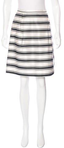 Michael Kors Silk Striped Skirt