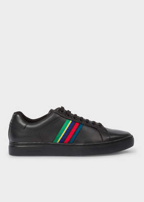 Paul Smith Men's Black Calf Leather 'Lapin' Trainers
