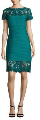 Tadashi Shoji Pin Tuck Lace Dress $348 thestylecure.com