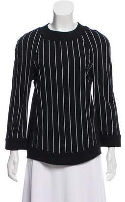 Balmain Striped Long Sleeve Sweatshirt