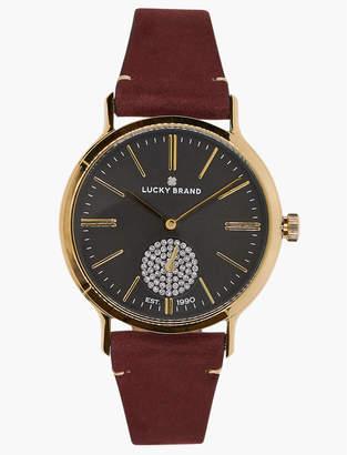 Lucky Brand Ventana Berry Leather Watch