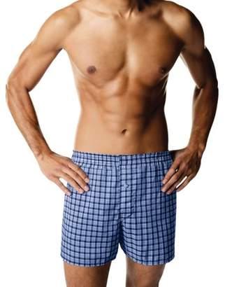 Hanes Mens ComfortBlend Woven Boxer, 4 Pack