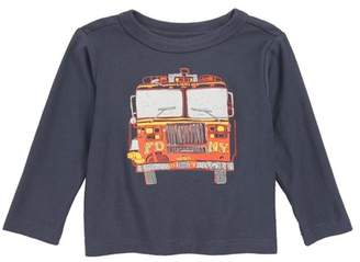 Tea Collection Fire Truck T-Shirt (Baby Boys)
