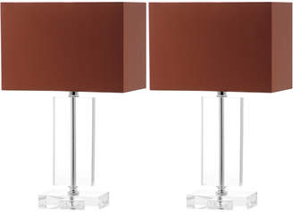 Safavieh Set Of 2 15.75In Art Moderne Table Lamps