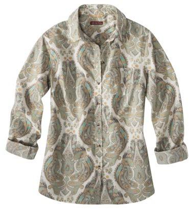 Merona Women's Favorite Shirt - Grey Paisley - XS