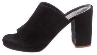 Robert Clergerie Suede Slide Sandals